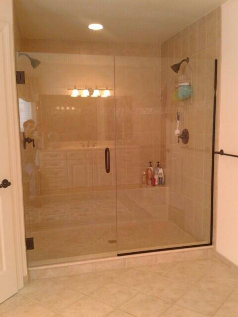 Updating Gold Trim Shower Enclosures - Bryn Mawr Glass