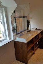 Custom frameless glass shower door