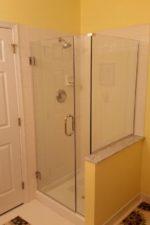 after updating the shower door
