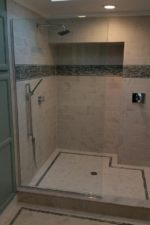 Frameless glass shower door on the Main Line by Bryn Mawr Glass