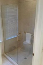 Updates to a glass shower door by Bryn Mawr Glass