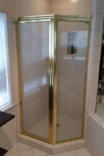 Prior to updating a glass shower door