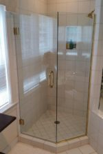 Newly frameless glass shower door by Bryn Mawr Glass