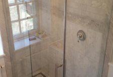 Bryn Mawr glass installs a frameless glass shower door