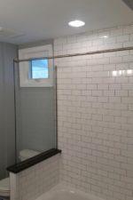Custom Glass Shower With White Tiles