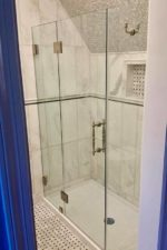 custom glass shower door by bryn mawr glass
