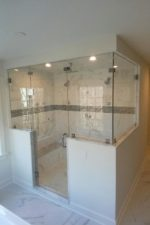 Custom glass shower enclosure by Bryn Mawr Glass