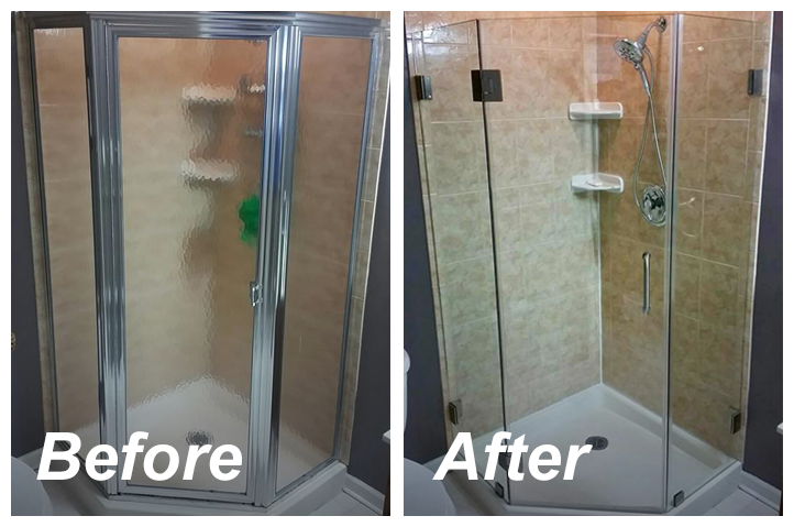 The results of switching from a framed to a frameless glass shower door