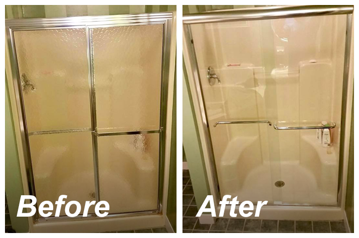 Before And After Updating To A Framless Gl Shower Door
